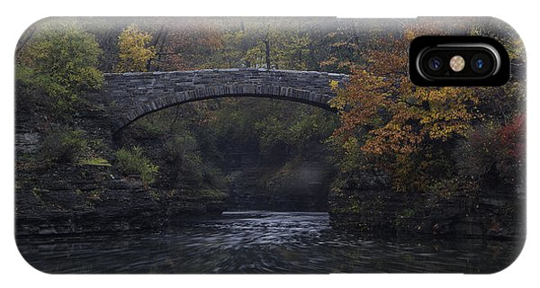 Stone Bridge In Autumn II IPhone Case