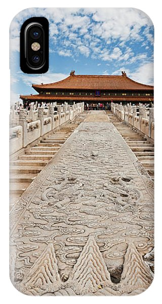 Forbidden City iPhone Case - Stone Carved Stairway At Hall by Panoramic Images
