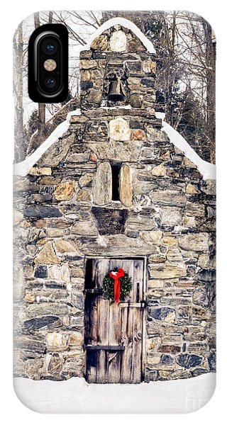 Stone Chapel In The Woods Trapp Family Lodge Stowe Vermont IPhone Case