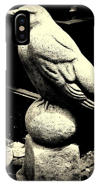 Stone Crow On Stone Ball IPhone Case