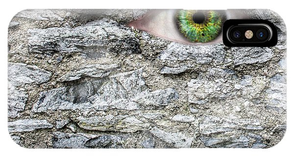 Gorgon iPhone Case - Stone Face by Semmick Photo