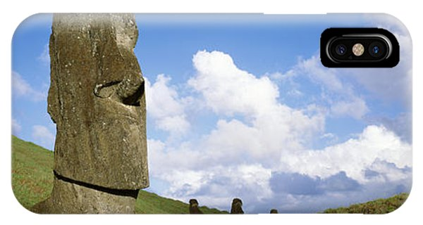 Stone Heads, Easter Islands, Chile IPhone Case
