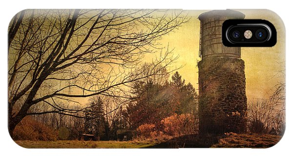 Stone Silo And Water Tower  IPhone Case