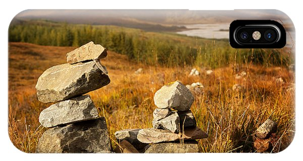 Beautiful Scotland iPhone Case - Stone Stacks In The Highlands by Jane Rix