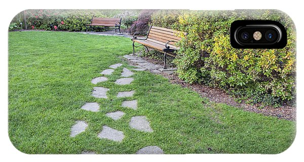 Stone Steps To Park Bench IPhone Case