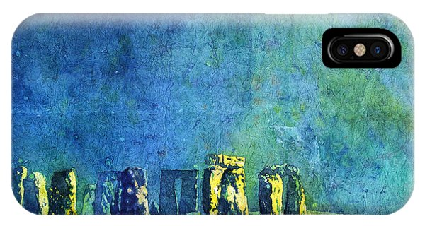 Stonehenge In Moonlight IPhone Case