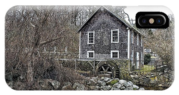 Stony Brook Gristmill Phone Case by Constantine Gregory