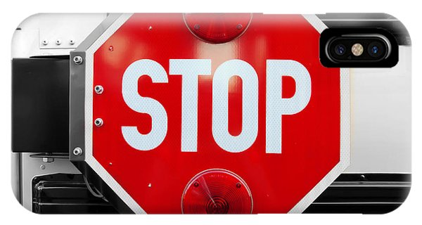 Stop Bw Red Sign IPhone Case
