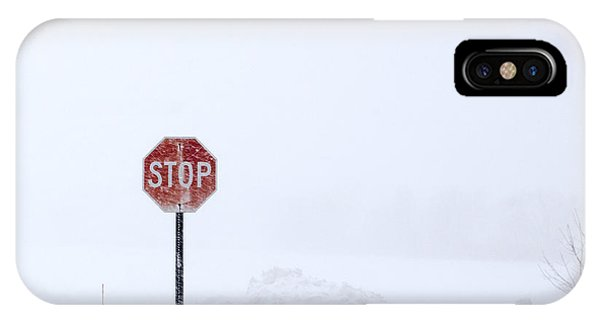 Stop For Snowstorm IPhone Case