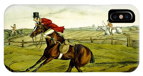 Accident iPhone Case - Stopping At Water From Qualified Horses And Unqualified Riders by Henry Thomas Alken