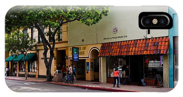 Window Shopping iPhone Case - Stores At The Roadside, Downtown San by Panoramic Images