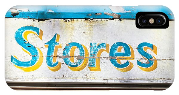 Mottled iPhone Case - Stores Sign by Tom Gowanlock