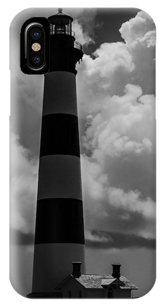 Storm At Bodie Light IPhone Case