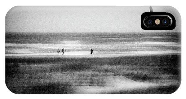 Dunes iPhone Case - Storm At Sea by Jacqueline Van Bijnen