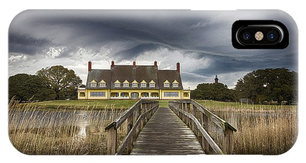 Storm At Whalehead Club IPhone Case