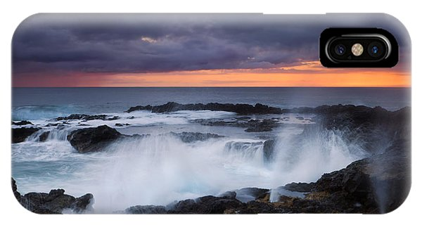 Cauldron iPhone Case - Storm Boil by Mike Dawson