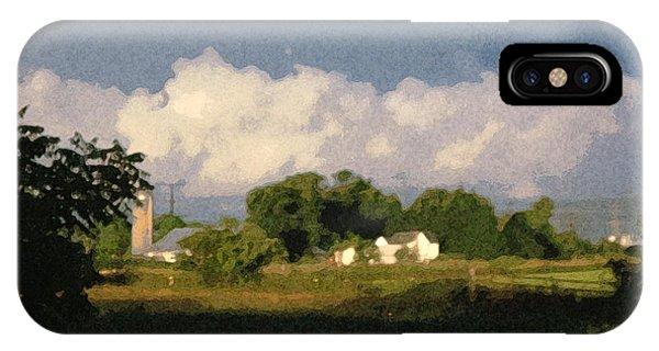 Storm Clouds Over Michigan Farm At Sunrise IPhone Case
