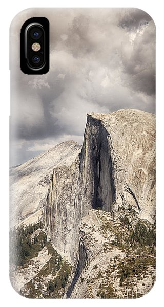 Storm Clouds Over Half Dome IPhone Case