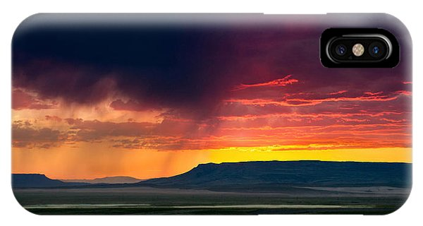 Storm Clouds Over Square Butte IPhone Case