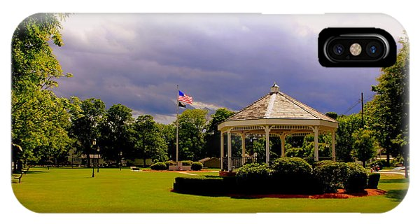Storm Clouds  Over Wilmington Common IPhone Case