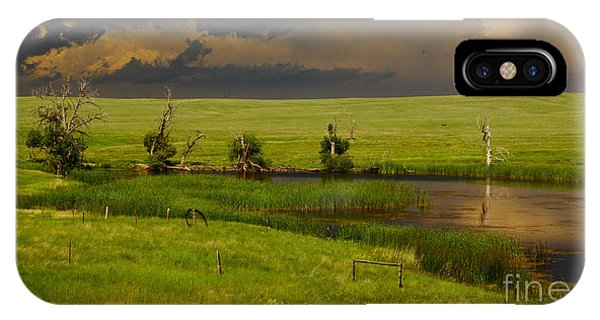 Storm Crossing Prairie 1 IPhone Case