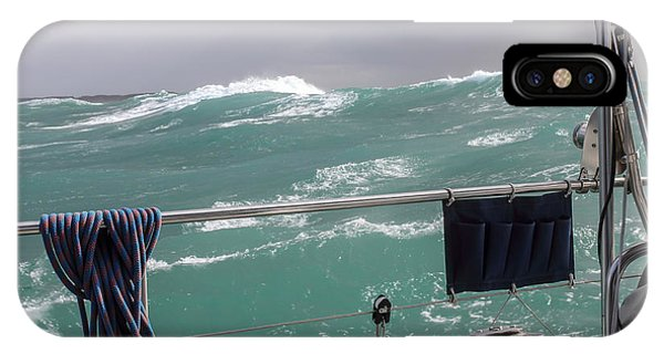 Storm On Tasman Sea IPhone Case