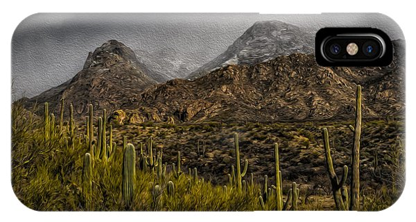 IPhone Case featuring the photograph Storm Over Catalinas Aso by Mark Myhaver