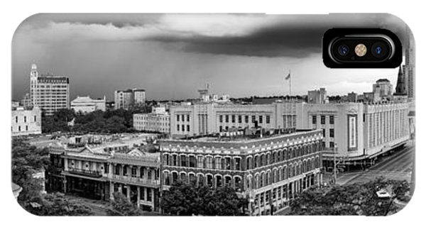 The Alamo iPhone Case - Storm Over San Antonio Texas Skyline by Silvio Ligutti