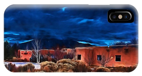 Storm Over Taos Lx - Homage Okeeffe IPhone Case