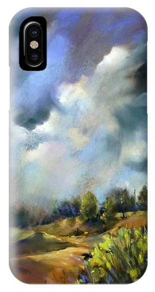 Storm Over The Hills IPhone Case