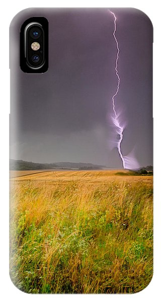 Storm Over The Wheat Fields IPhone Case