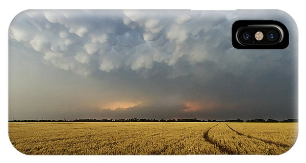 Storm Over Wheat IPhone Case