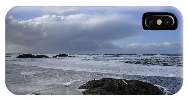 Storm Rolling In Wickaninnish Beach IPhone Case