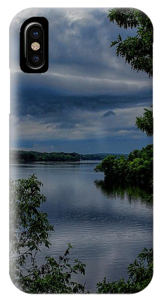 Storm Rolling Over Lake Wausau IPhone Case