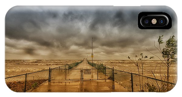 Storm Sandy At Bradstreet Landing IPhone Case