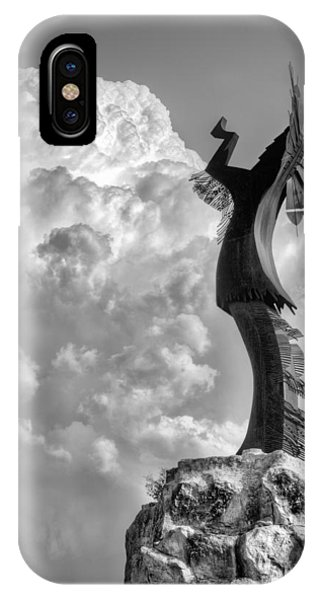 Storm Watcher Bw IPhone Case