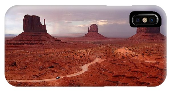 Storms Moving Through Monument Valley IPhone Case