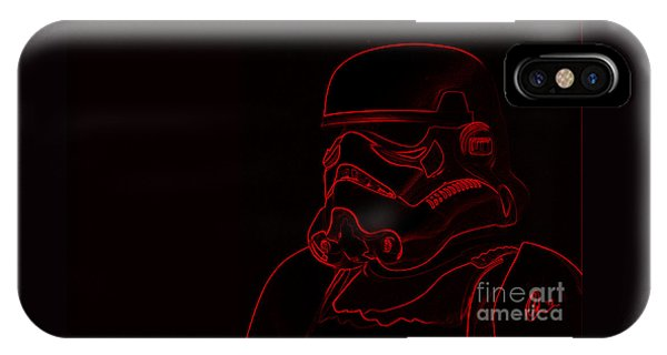 Stormtrooper In Red IPhone Case