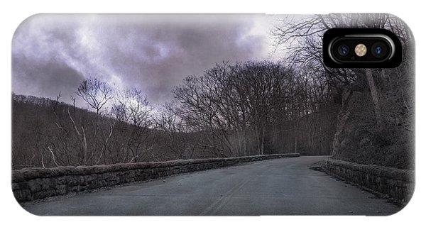 Stormy Blue Ridge Parkway IPhone Case