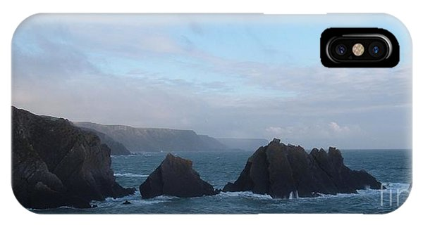 Hartland Quay Storm IPhone Case