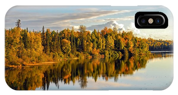 Stormy Lake Alaska In Autumn IPhone Case