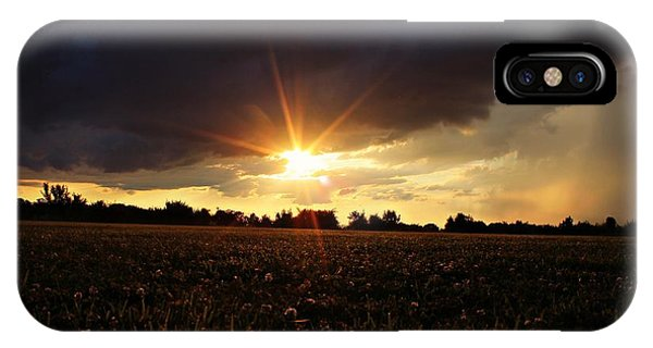 Stormy Lit Pasture IPhone Case