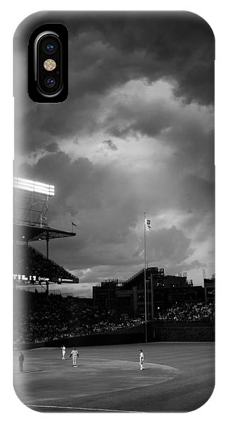 Stormy Night At Wrigley Field IPhone Case
