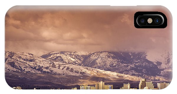 Stormy Reno Sunrise IPhone Case
