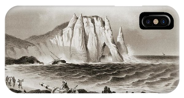 Navigation iPhone Case - Stormy Sea At Etretat by David Parker/science Photo Library