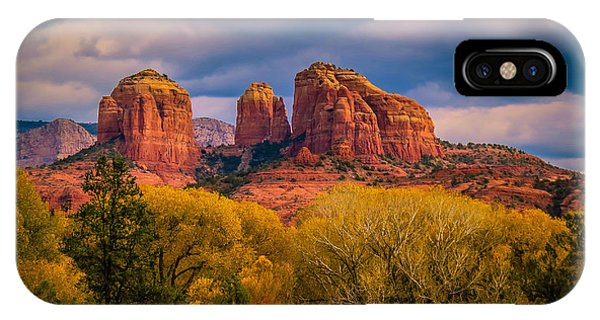 Stormy Skies Over Cathedral Rock IPhone Case
