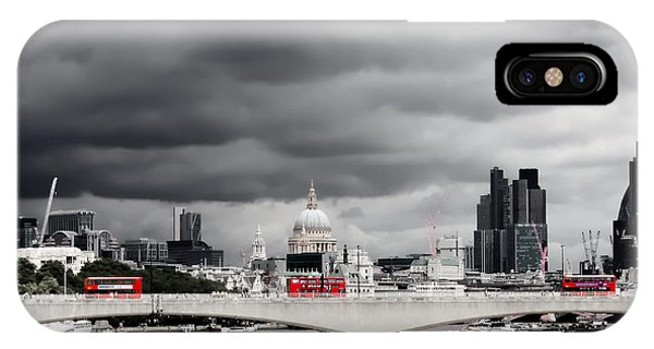 IPhone Case featuring the photograph Stormy Skies Over London by Jeremy Hayden