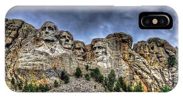 Stormy Skies Over Mt Rushmore IPhone Case