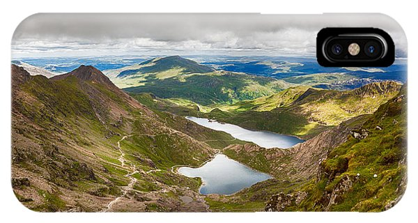 Stormy Skies Over Snowdonia IPhone Case