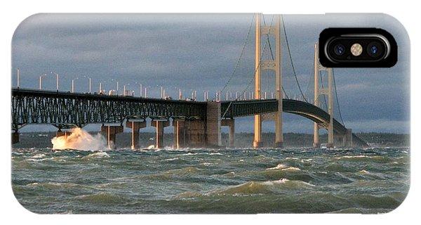Stormy Straits Of Mackinac IPhone Case